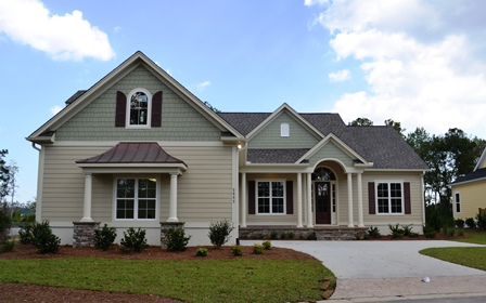 golf course homes at Brunswick Forest