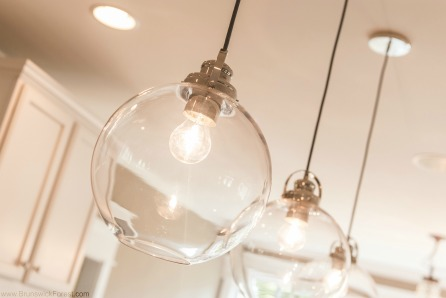 GLASS KITCHEN ISLAND PENDANTS